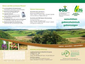 Flyer der EzG-BW in Zusammenarbeit mit der EAB